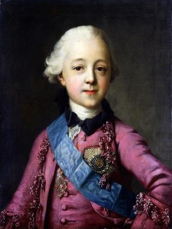 Portrait of Grand Duke Pavel Petrovich (1754-180)