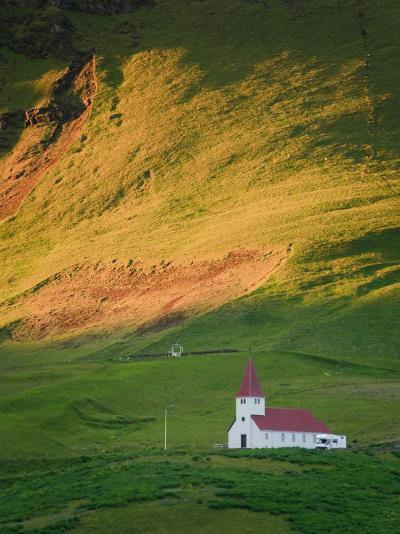 Vik Historic Church, Vik, South Coast, Iceland-Michele Falzone-Photographic Print