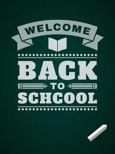 Back to School Message on Blackboard by VikaSuh