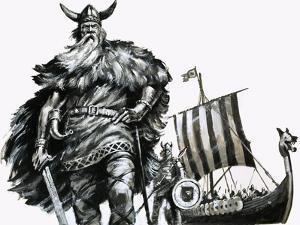 Viking and Longship