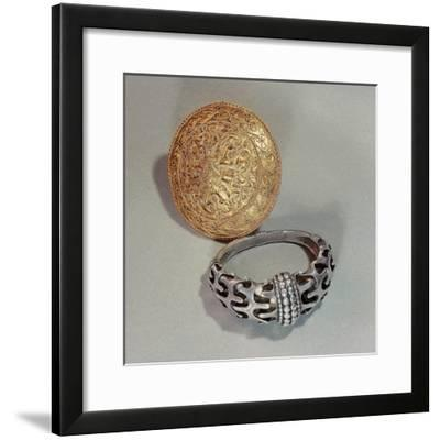 Viking Arm-ring and brooch, 10th Century-Werner Forman-Framed Giclee Print