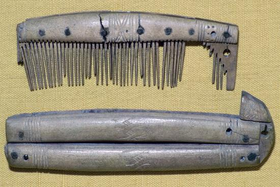 Viking Bone Comb and Comb Case. Artist: Unknown-Unknown-Giclee Print