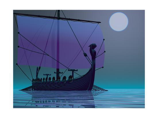 Viking Journey-Corey Ford-Premium Giclee Print