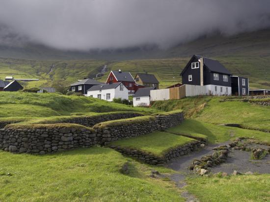 Viking Longhouse Dating from the 10th Century, Archaeological Site of Toftanes-Patrick Dieudonne-Photographic Print