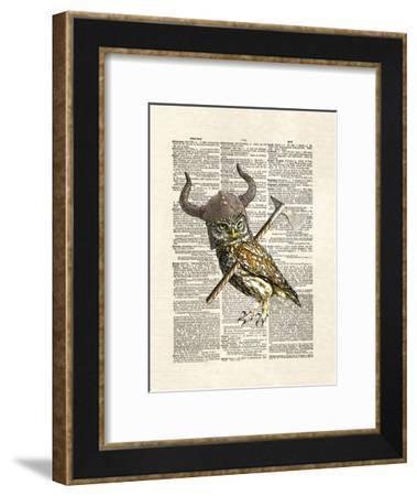 Viking Owl-Matt Dinniman-Framed Art Print