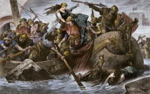 Viking Raid Along the English Channel Led by Olaf Tryggvason, 900s Ad