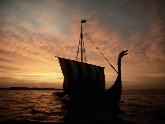 Viking Ship Replica-Ted Spiegel-Photographic Print