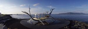 Viking Ship Sculpture at the Coast, Reykjavik, Iceland