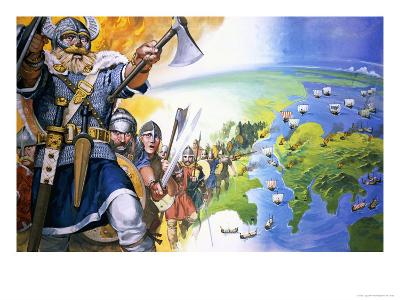 Vikings-Angus Mcbride-Giclee Print