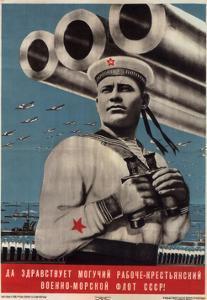 Long Live the Mighty Worker-Peasant War-Navy Fleet of the USSR!, 1939 by Viktor Borisovich Koretsky