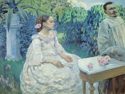 Self Portrait of the Artist with His Sister, Elena Borisova-Musatova, 1898