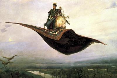 Riding a Flying Carpet, 1880