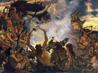 The Stone Age, a Feast, 1883