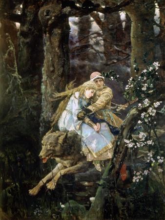 Tsarevich Ivan Riding the Grey Wolf, 1889