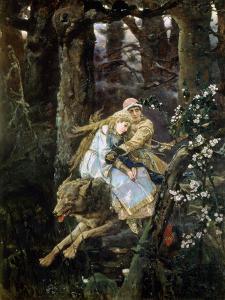 Tsarevich Ivan Riding the Grey Wolf, 1889 by Viktor Mihajlovic Vasnecov