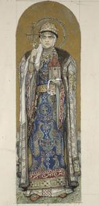 Saint Olga, Princess of Kiev (Study for Frescos in the St Vladimir's Cathedral of Kie), 1884-1889 by Viktor Mikhaylovich Vasnetsov