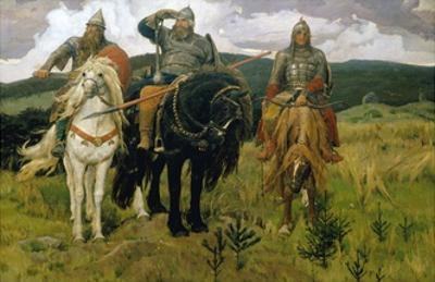 Heroes by Viktor Vasnetsov