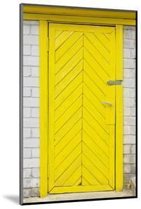 Yellow Old Wooden Door by vilax