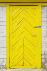 Yellow Old Wooden Door by vilax