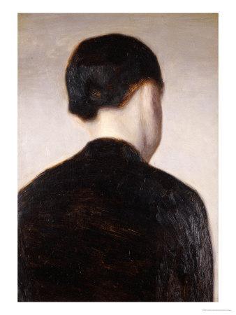 A Girl from Behind, Half Length, circa 1884
