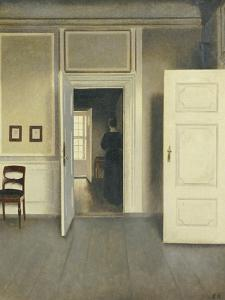 A Woman in an Interior, Strandgade 30, 1901 by Vilhelm Hammershoi