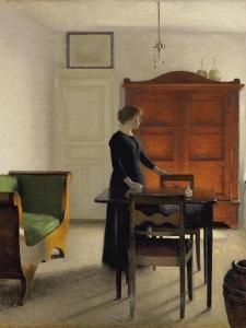 Ida in an Interior, 1897 by Vilhelm Hammershoi