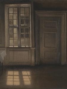 Interior, Sunlight on the Floor by Vilhelm Hammershoi