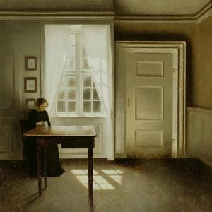 Interior with a Lady, 1901 by Vilhelm Hammershoi