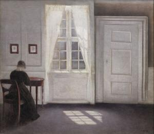Living In Strand Street With Sunshine On The Floor, 1901 by Vilhelm Hammershoi