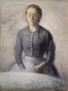 Portrait of Ida, 1892 by Vilhelm Hammershoi