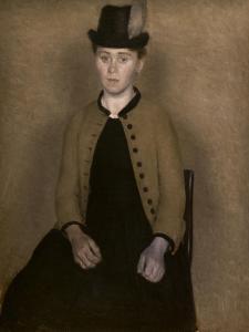 Portrait of Ida Ilsted, 1890 by Vilhelm Hammershoi