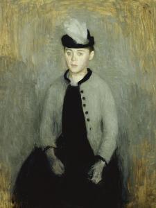 Portrait of Ida Ilsted, Aged Twenty-One, Seated Three-Quarter Length by Vilhelm Hammershoi