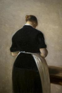 Study of a standing woman, back view, 1884-88 by Vilhelm Hammershoi