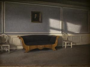 Sunny rayson in the living room, III, 1903 by Vilhelm Hammershoi
