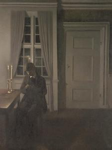 The Collector of Coins, 1904 by Vilhelm Hammershoi