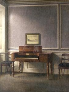 The Music Room by Vilhelm Hammershoi