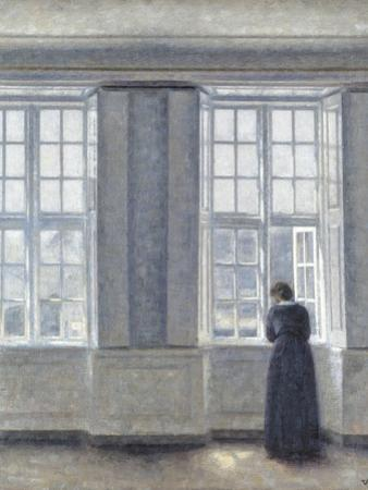 The Tall Windows by Vilhelm Hammershoi