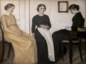 Three young women, 1895 by Vilhelm Hammershoi