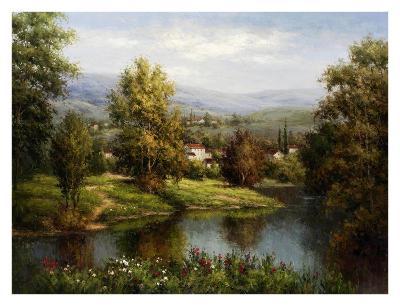 Villa at the River Bank-Hulsey-Art Print