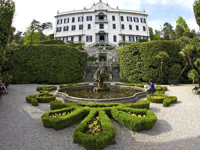 Villa Carlotta and Gardens in Spring Sunshine, Tremezzo, Lake Como, Lombardy, Northern Italy-Peter Barritt-Photographic Print