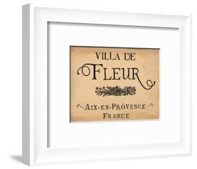 Villa de Fleur--Framed Art Print