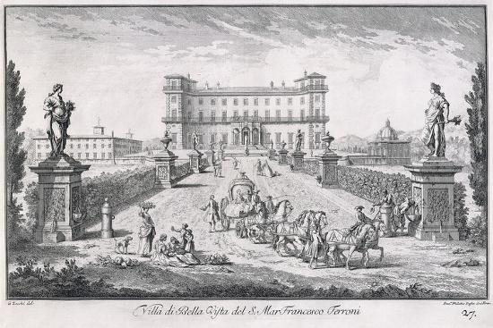 Villa Di Bella Vista, Plate 27, from 'Views , 1757-Giuseppe Zocchi-Giclee Print