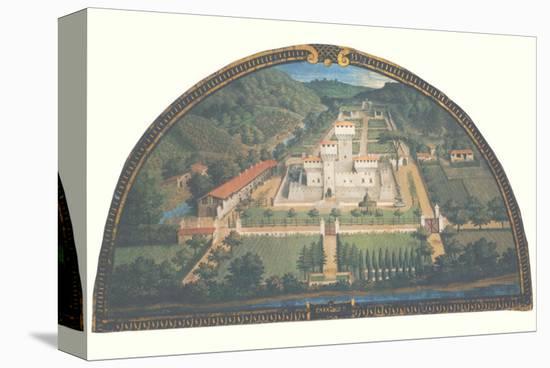 Villa di Cafaggiolo-Giusto Utens-Stretched Canvas Print