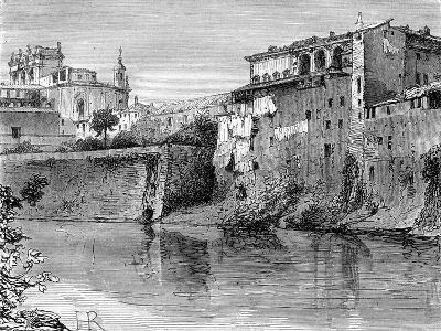 Villa Farnese, Province of Viterbo, North-West of Rome, Italy, 19th Century-Henri Alexandre Georges Regnault-Giclee Print