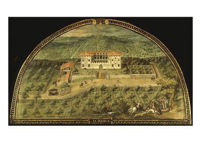 Villa La Peggio, Tuscany, Italy, from Series of Lunettes of Tuscan Villas, 1599-1602-Giusto Utens-Giclee Print