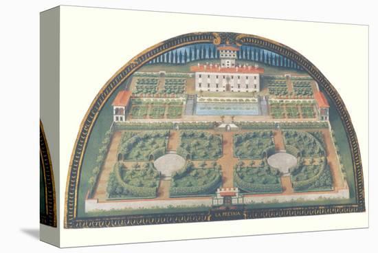 Villa La Petraia-Giusto Utens-Stretched Canvas Print