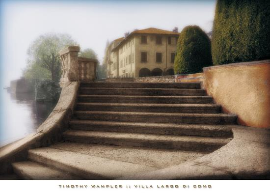 Villa Largo di Como-Tim Wampler-Art Print