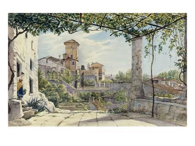 Villa Malta, Rome, about 1840-Franz Ludwig Catel-Giclee Print