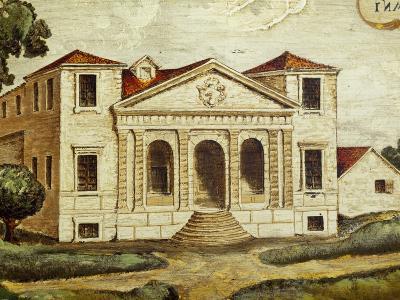 Villa Pisani-Bonetti Painting before Construction of Wall Along River, Villa Pisani-Bonetti--Photographic Print