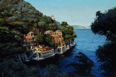Villa, Portofino, from Hotel Picolo, Liguria, 1998-Trevor Neal-Giclee Print